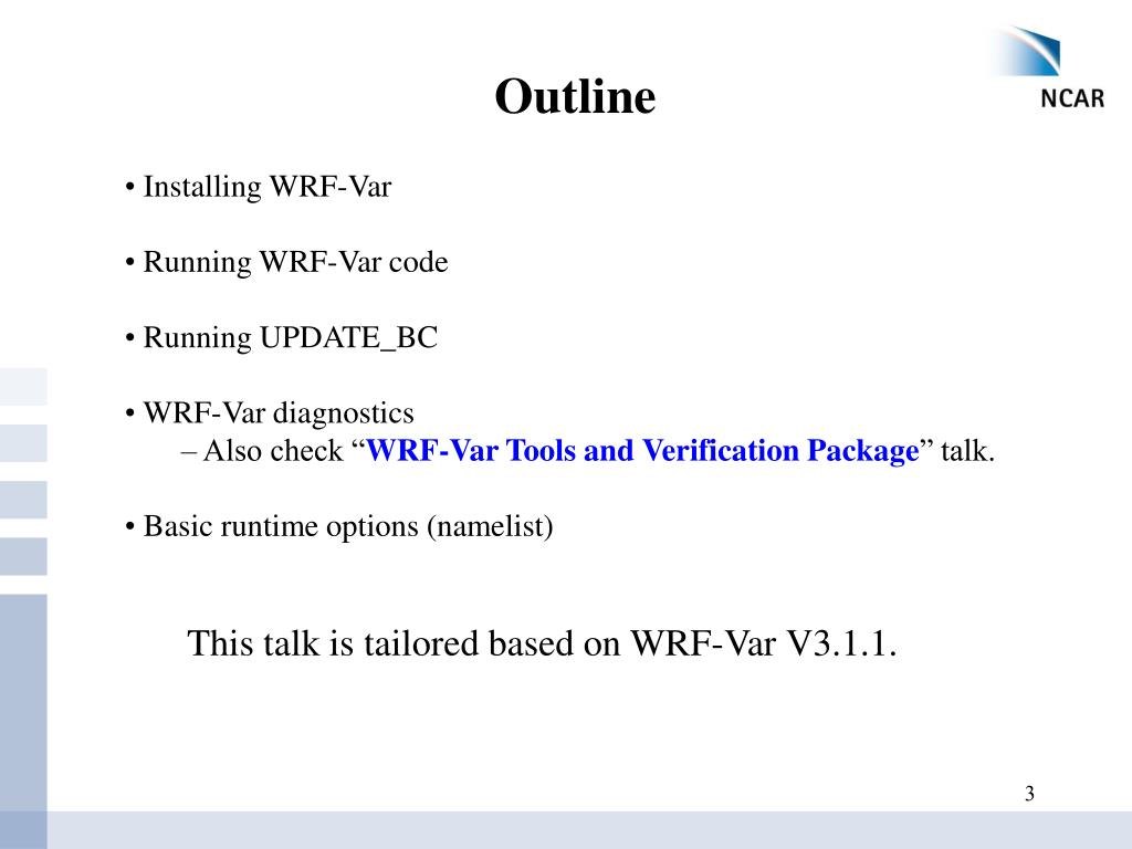 PPT - WRF-Var Setup, Run and Diagnostics PowerPoint Presentation