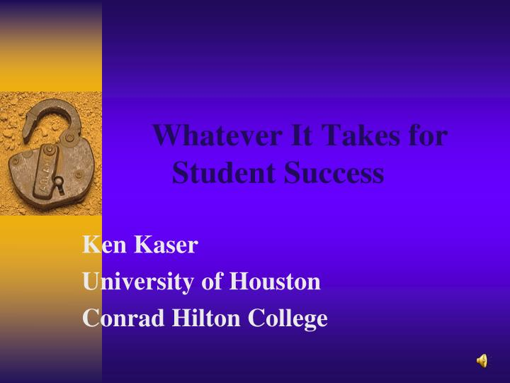 whatever it takes for student success n.