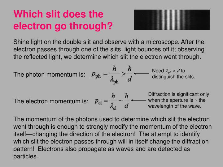 Which slit does the electron go through?