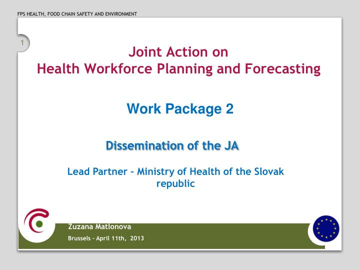 PPT - Joint Action on Health Workforce Planning and