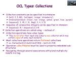 ocl types collections