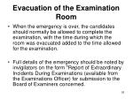 evacuation of the examination room2