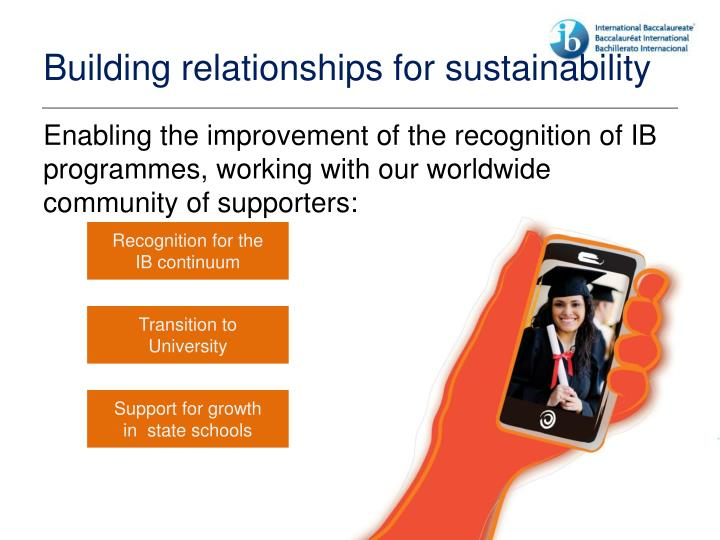 Building relationships for sustainability
