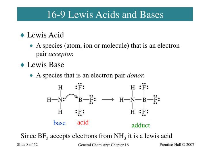 16-9 Lewis Acids and Bases