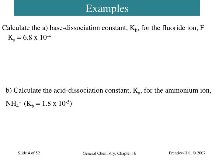 Calculate the a) base-dissociation constant, K