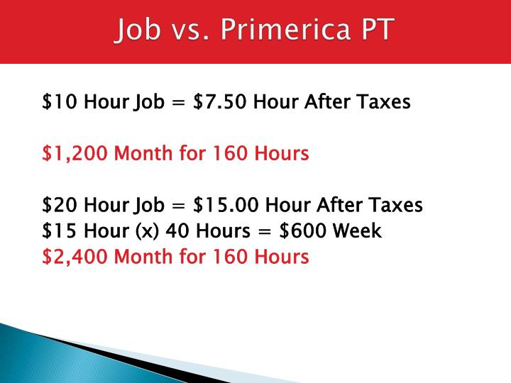 Job vs primerica pt