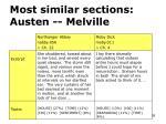 most similar sections austen melville
