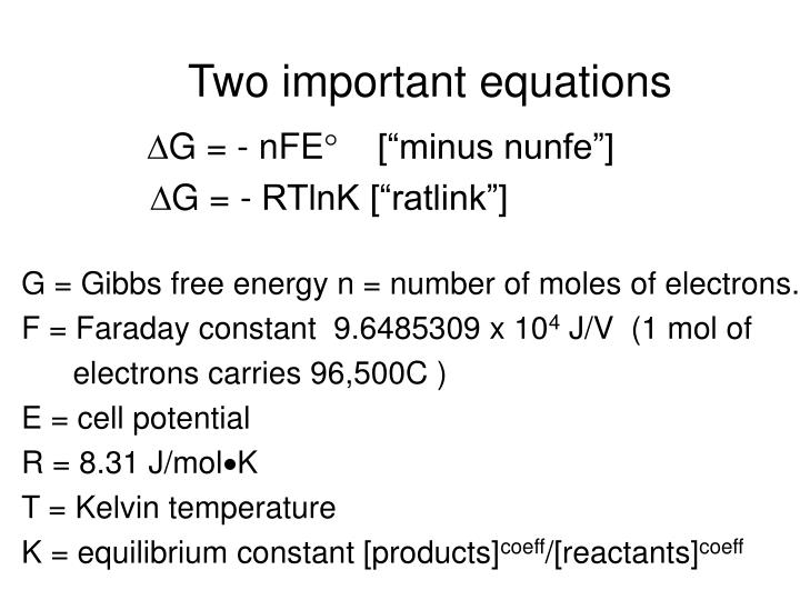 Two important equations