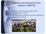 migrant and seasonal farm workers msfw
