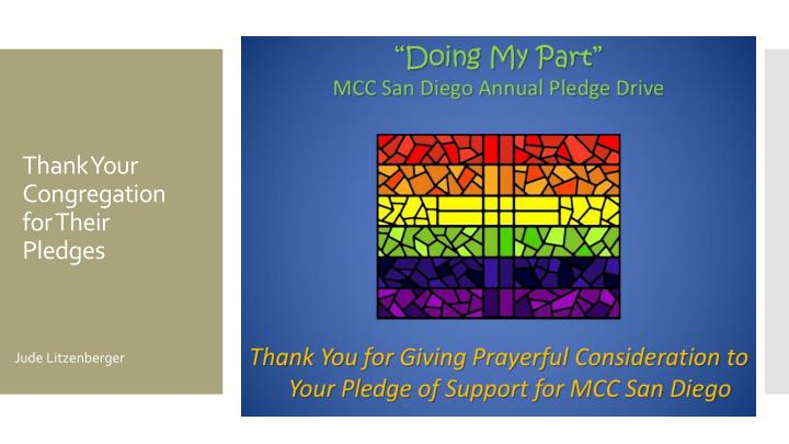 Thank Your Congregation for Their Pledges