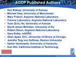 agdp published authors