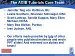 the agib tutorials core team