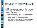 fitness for duty exams