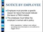 notice by employee
