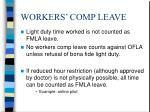 workers comp leave