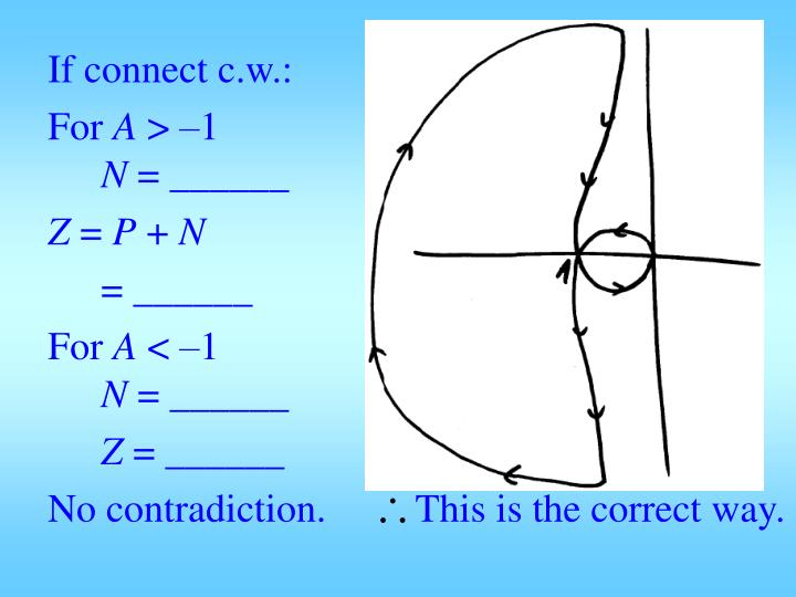 If connect c.w.: