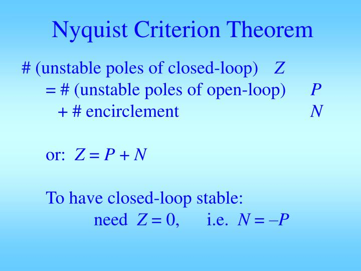 Nyquist Criterion Theorem
