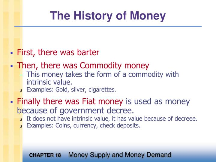 the history of money n.