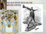 the sun never sets on the british empire