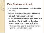 data review continued1