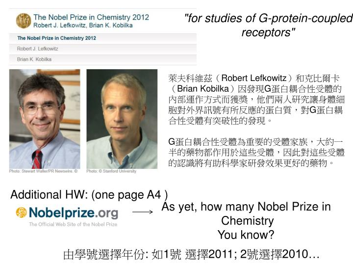 """""""for studies of G-protein-coupled receptors"""""""