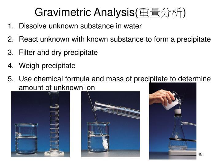 Gravimetric Analysis(