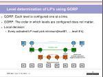 level determination of lp s using gorp