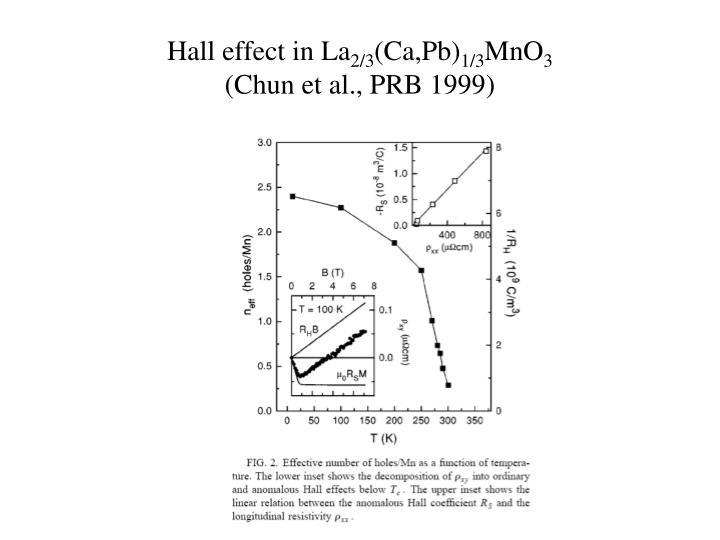 Hall effect in La