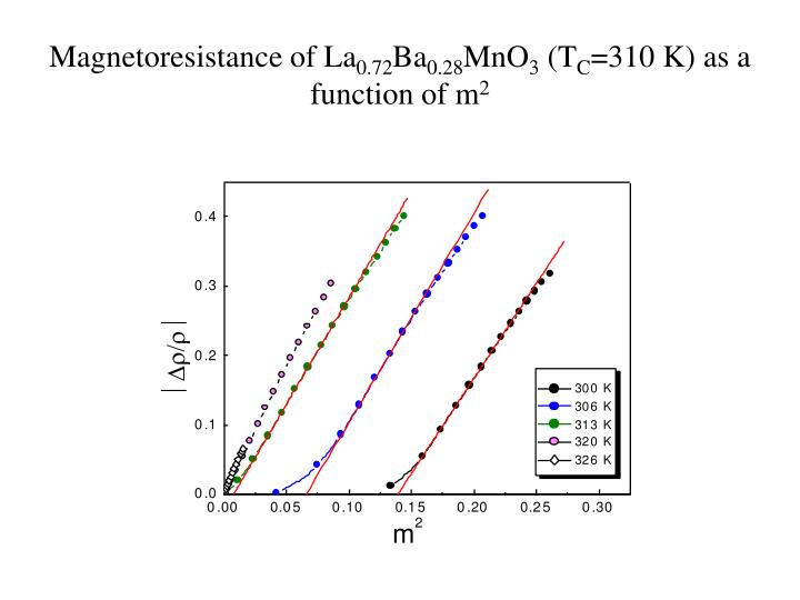 Magnetoresistance of La