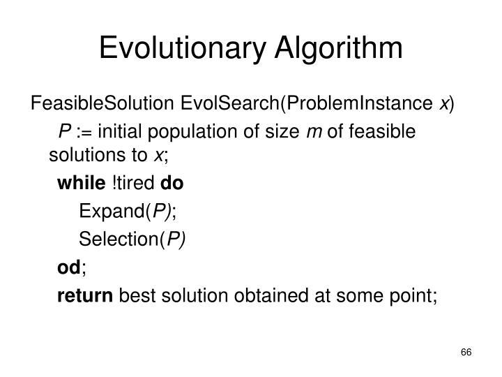 Evolutionary Algorithm
