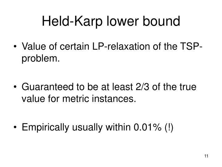 Held-Karp lower bound