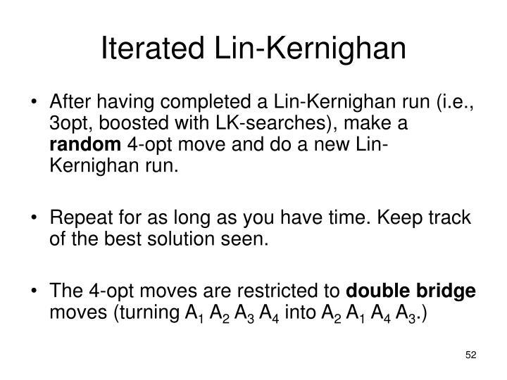 Iterated Lin-Kernighan