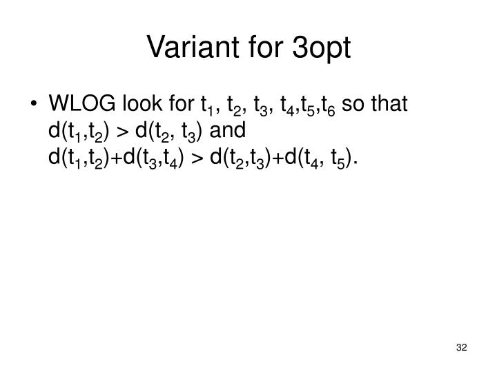 Variant for 3opt