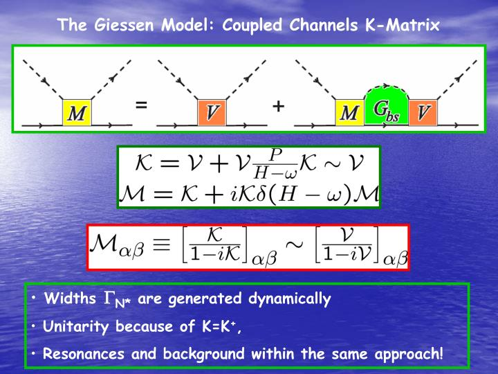 The Giessen Model: Coupled Channels K-Matrix