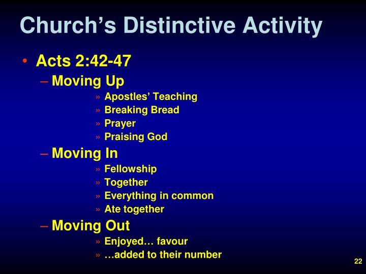 Church's Distinctive Activity