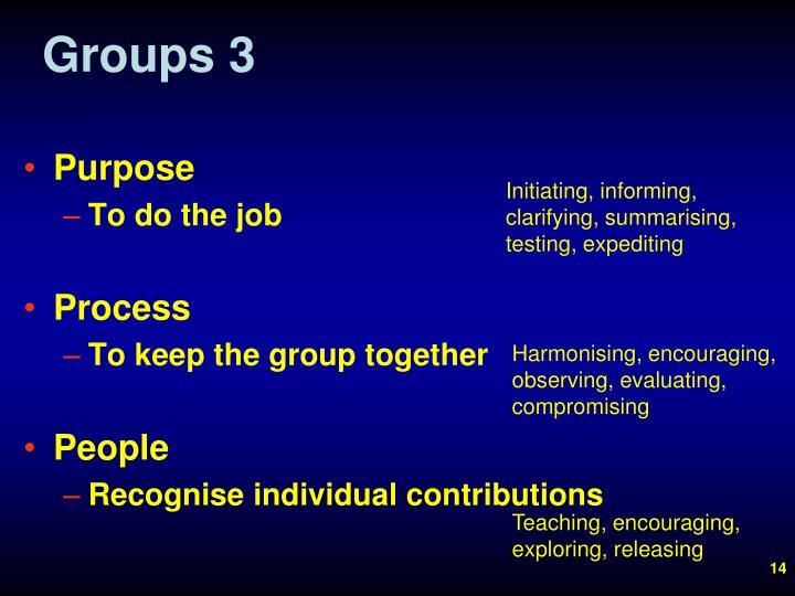 Groups 3