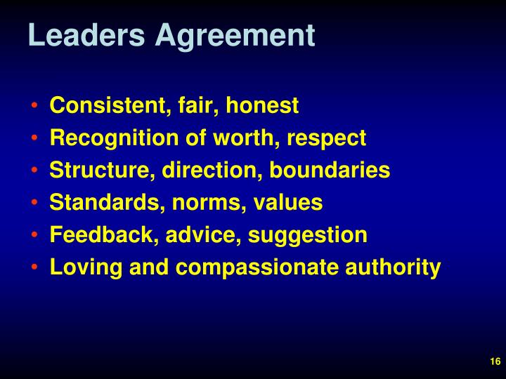 Leaders Agreement