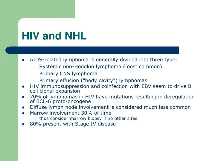 HIV and NHL