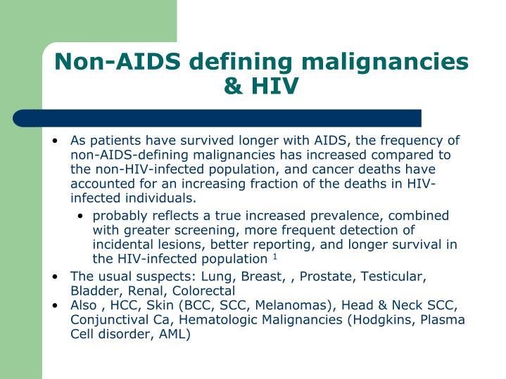 Non aids defining malignancies hiv