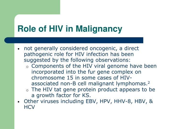 Role of HIV in Malignancy