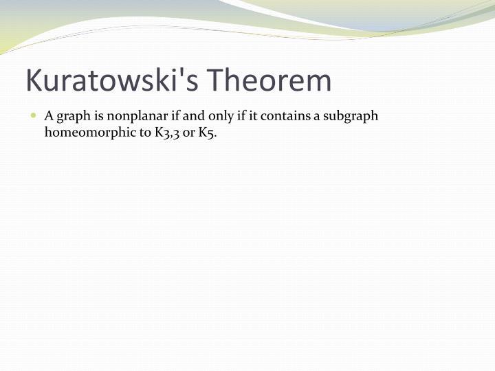 Kuratowski's Theorem