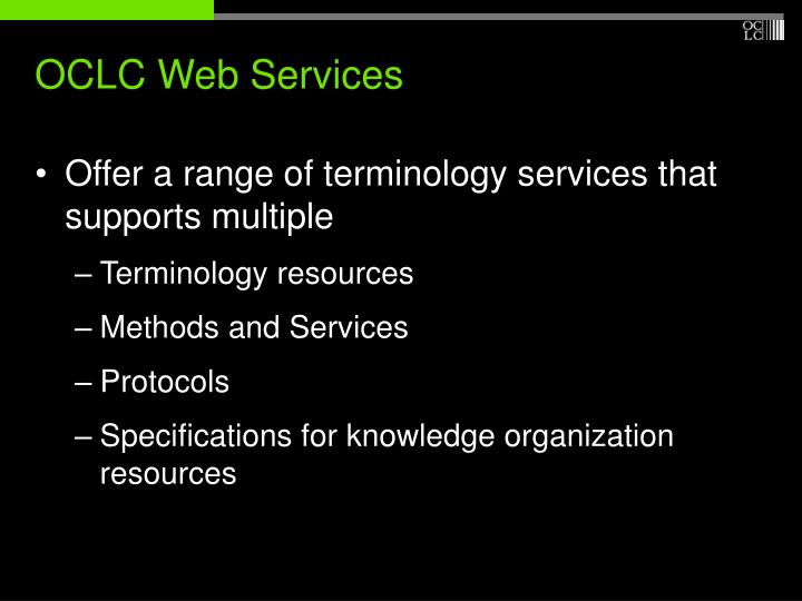 OCLC Web Services