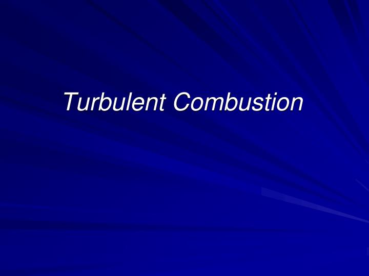turbulent combustion n.