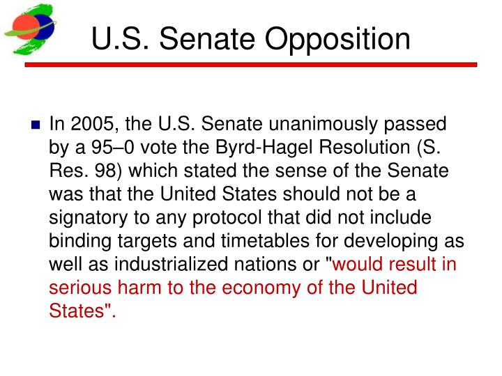 U.S. Senate Opposition