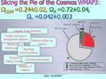 slicing the pie of the cosmos wmap3 cdm 0 24 0 02 0 72 0 04 b 0 04 2 0 0 03