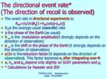the directional event rate the direction of recoil is observed