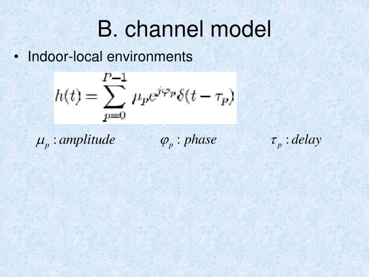 B. channel model