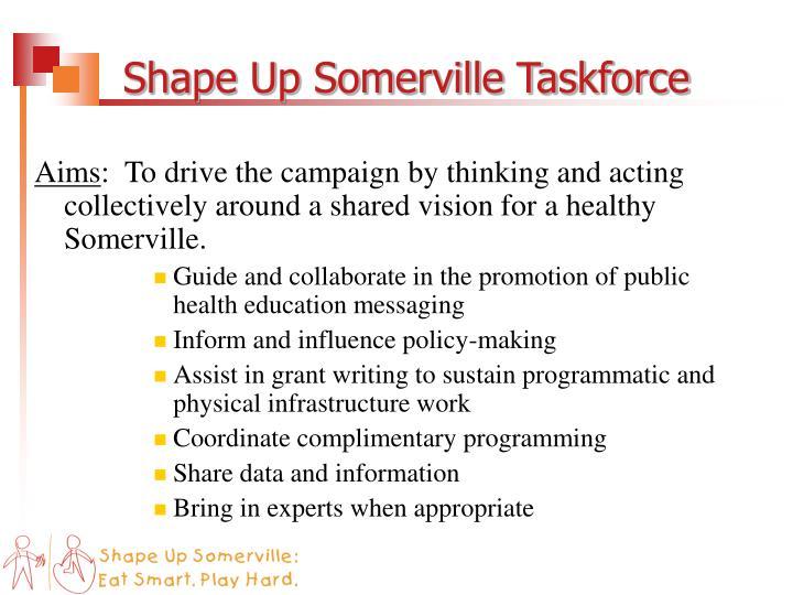 Shape Up Somerville Taskforce