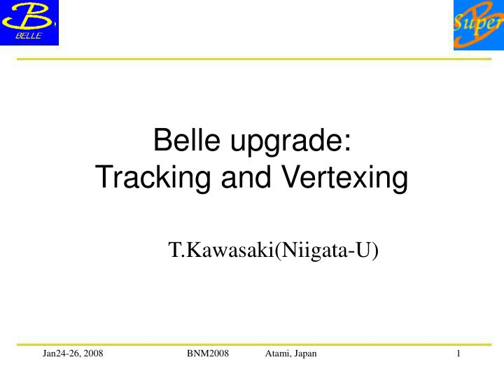 belle upgrade tracking and vertexing
