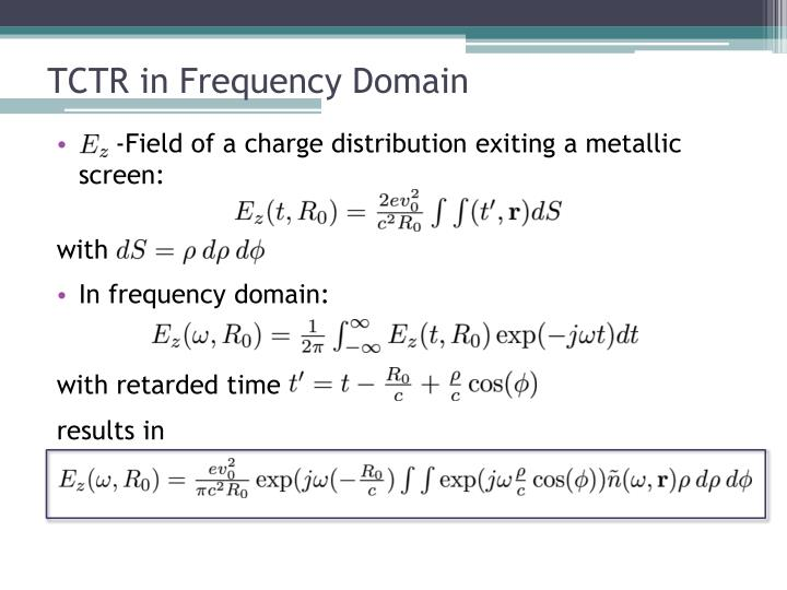 TCTR in Frequency Domain